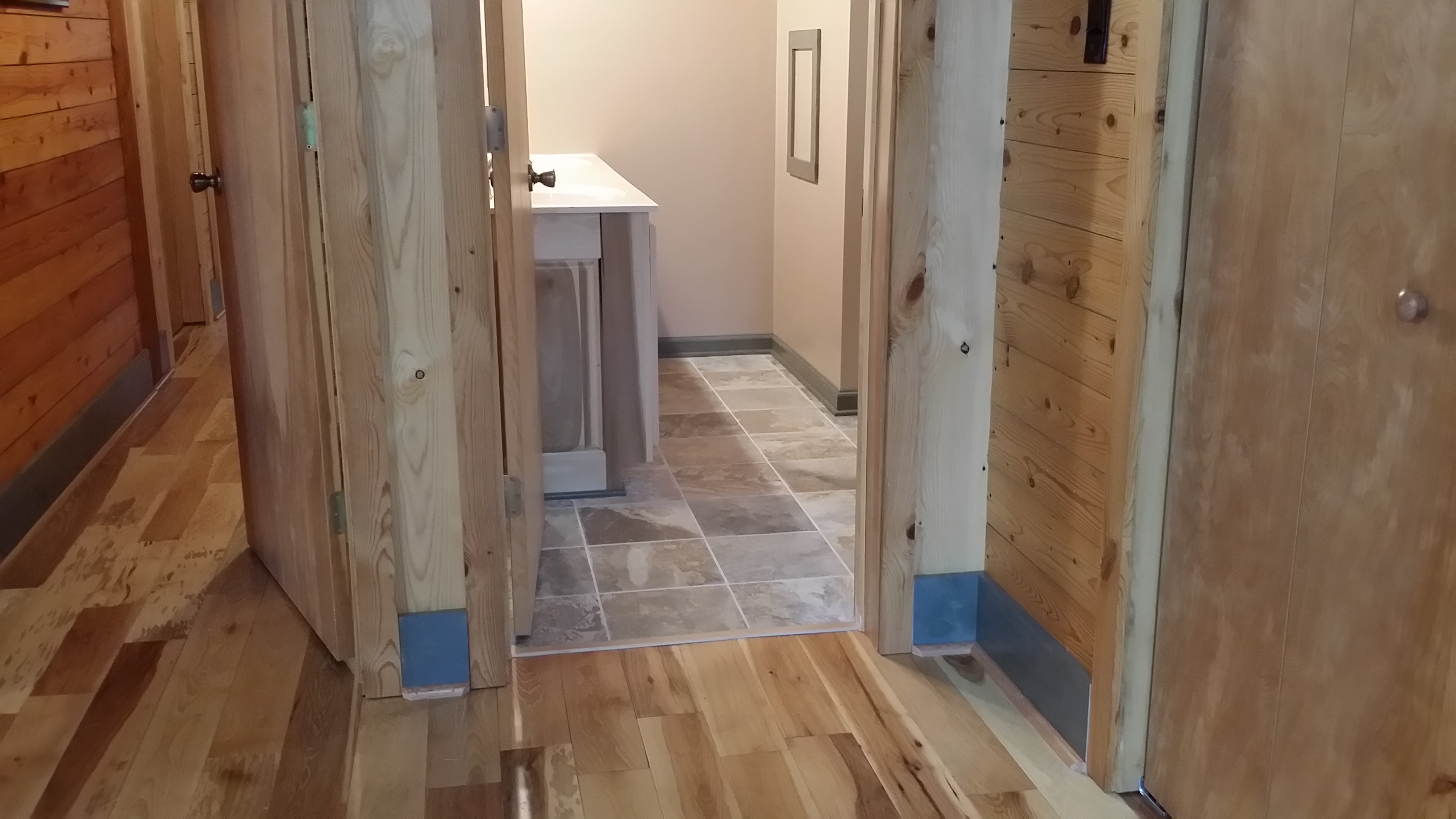 Hickory and Tile Flooring