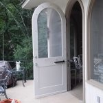 Custom built pool house door